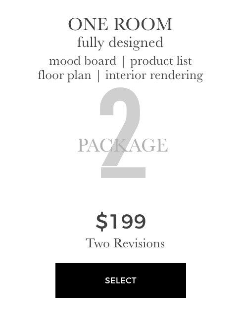 one room interior rendering package 2