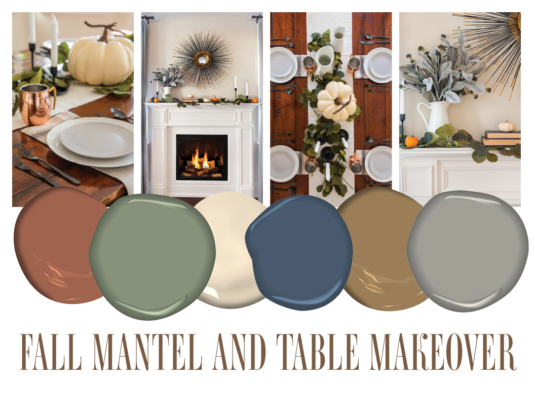 Fall Mantel and Table Setting Makeover