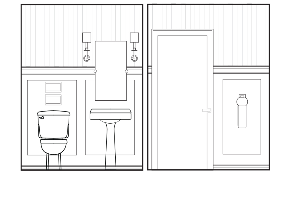 Colour powder room floorplan Si and Oui 6
